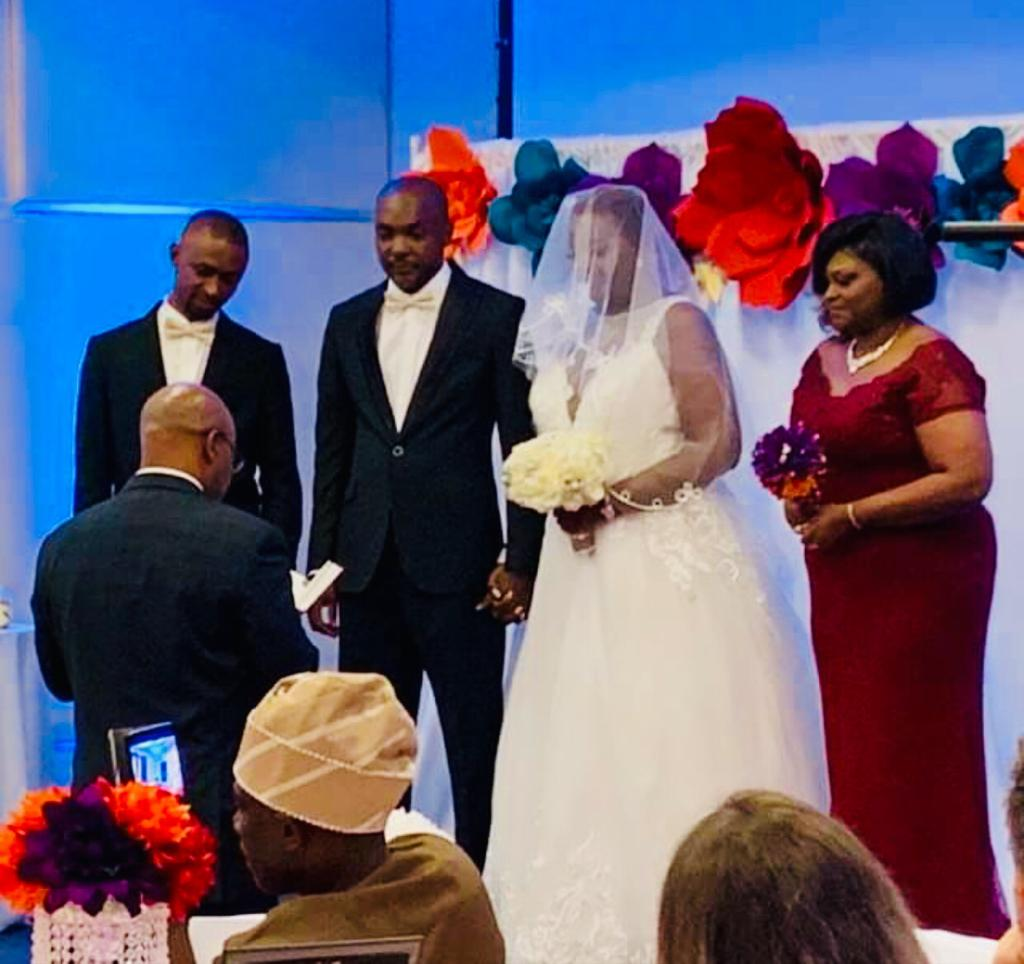 Katsina United Coach Abdullahi Biffo weds American girlfriend in Florida