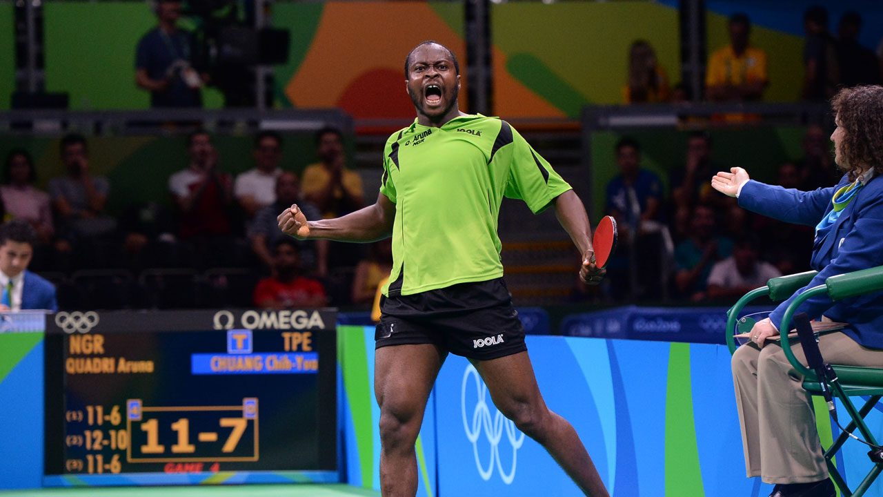Aruna power past Diogo Carvalho at the Seamaster 2019 ITTF World Tour China Open