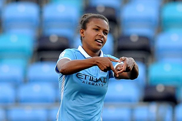 Manchester City's Nikita Parris pulled a Ronaldo on Reading