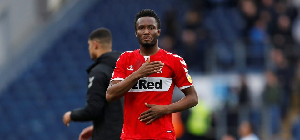 'Boro's EPL promotion will stand among my greatest achievements, says Mikel