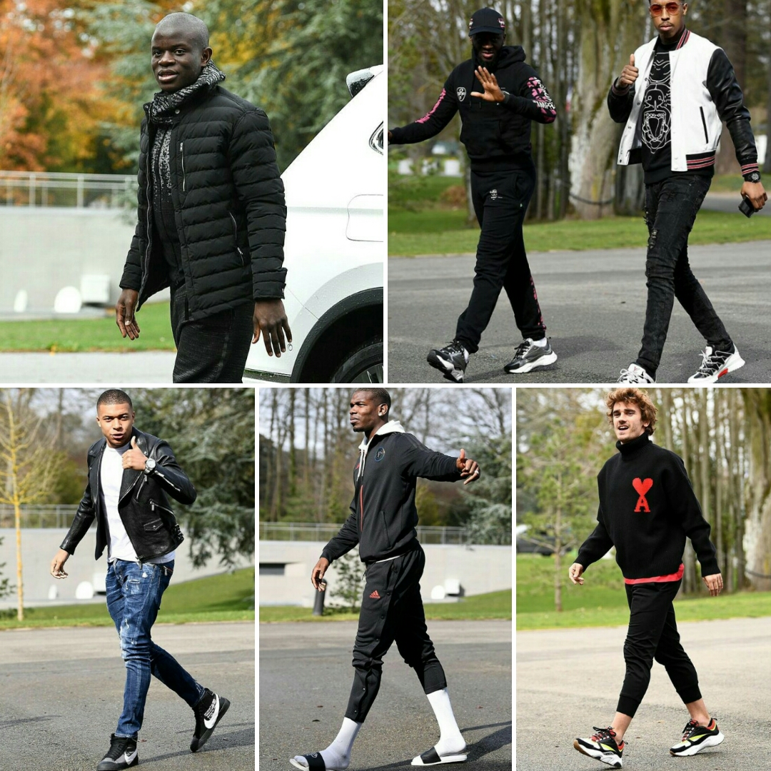N'golo Kante tries to rival his Stylish French Teammates
