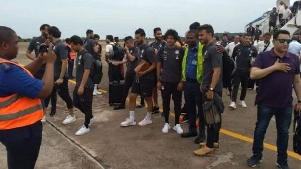 Pharaohs of Egypt arrives Asaba for friendly clash with Eagles