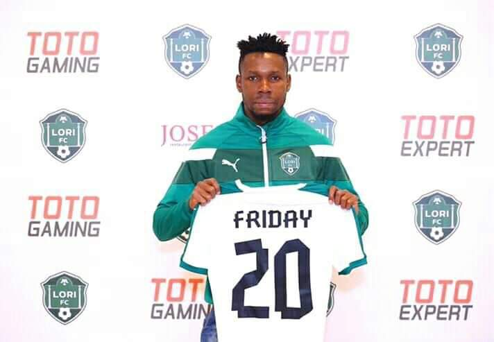 Ubong Friday completes move to Armenia club FC Lori
