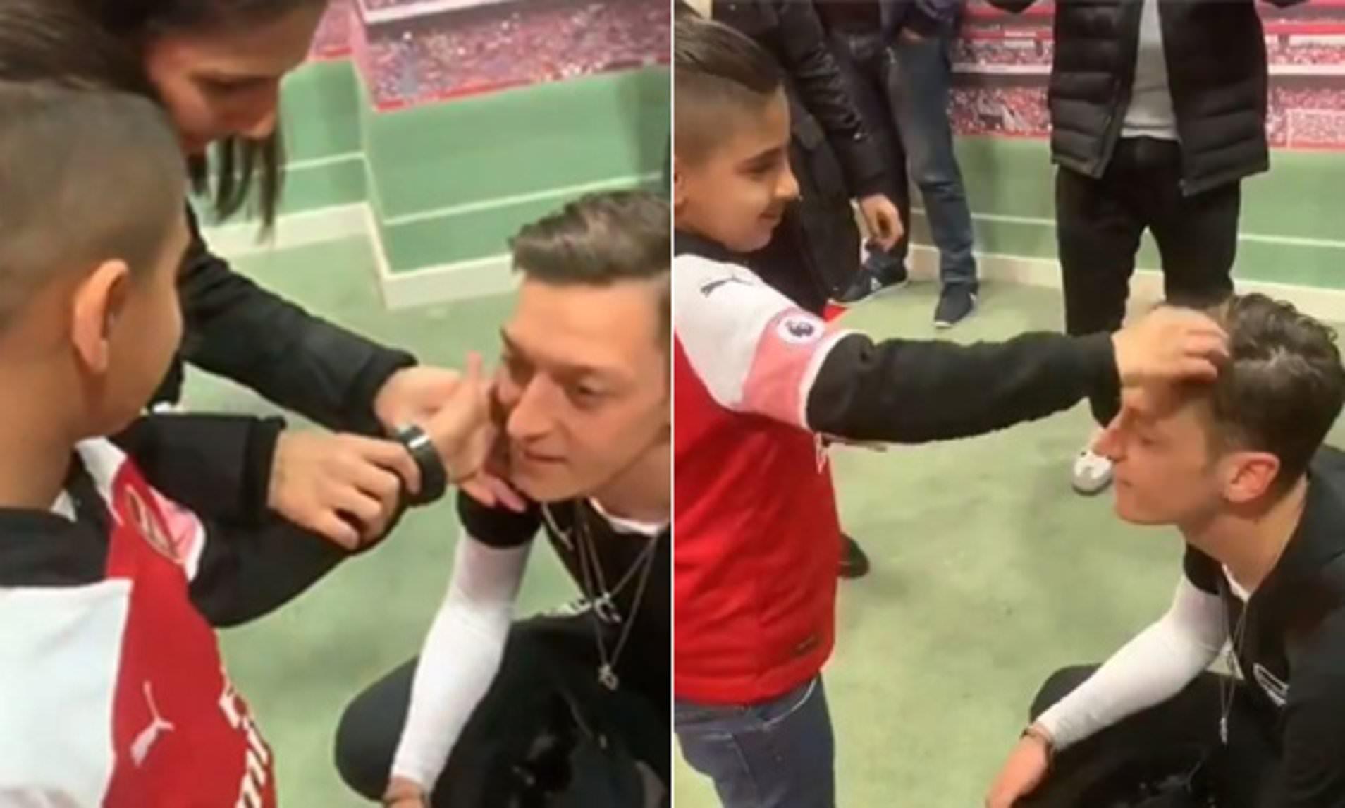 Mesut Ozil makes blind Arsenal supporter's day