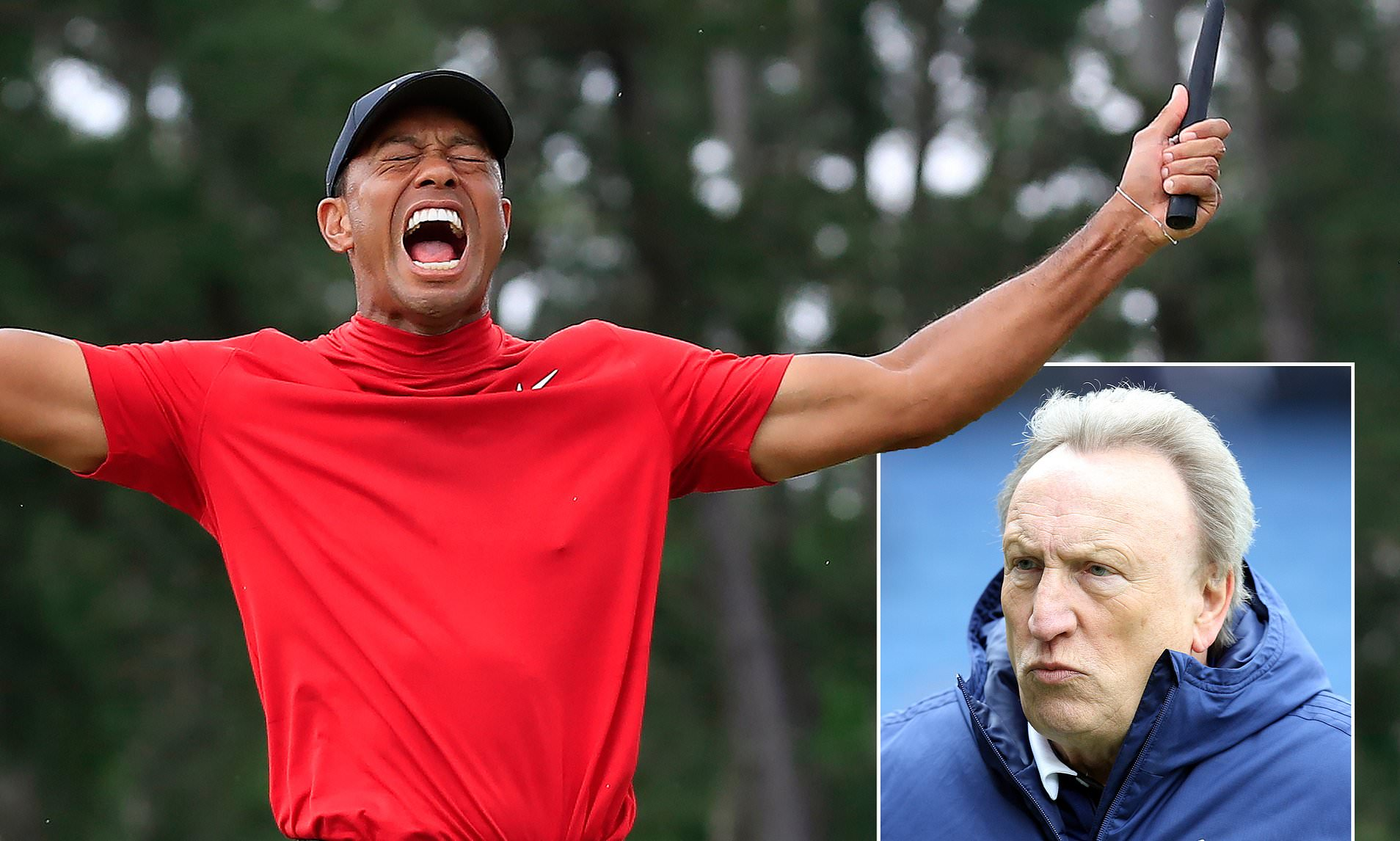 Neil Warnock to use Tiger Wood's comeback story to boost Cardiff's relegation fight