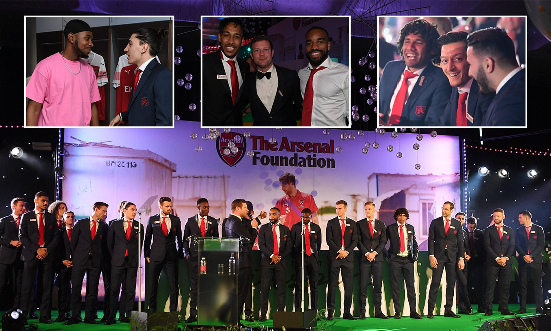 Arsenal players pledge £90,000 to charity