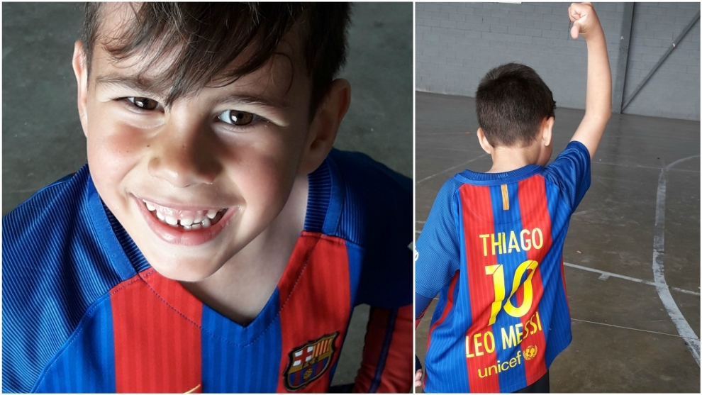 The 7-year-old boy in love with Barcelona