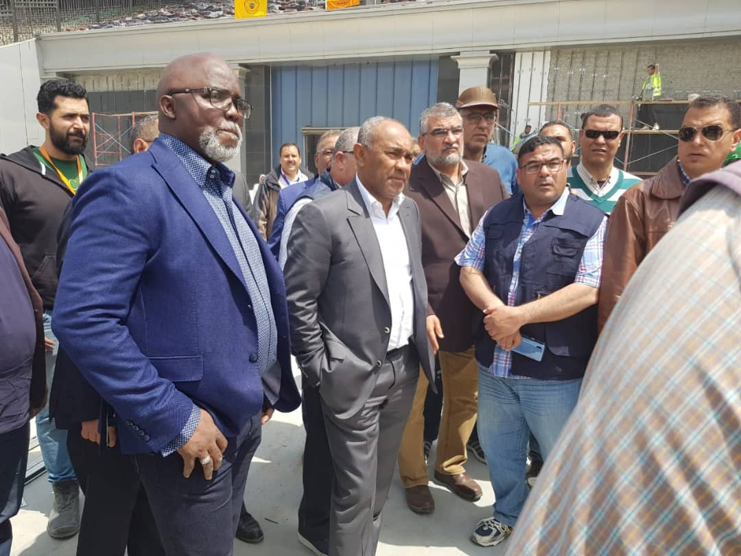 Egypt 2019 – NFF Boss Pinnick joins CAF president Ahmad, others on Cairo Stadium Inspection Tour