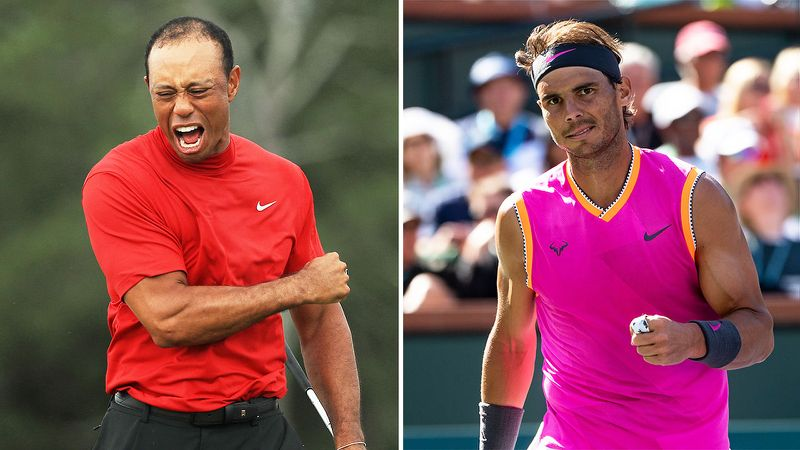 Tiger Woods' incredible win at the Masters has left Rafael Nadal very emotional