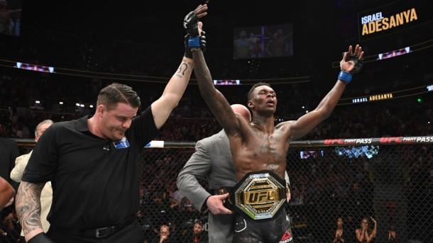 Nigerian-born Adesanya captures UFC interim middleweight crown