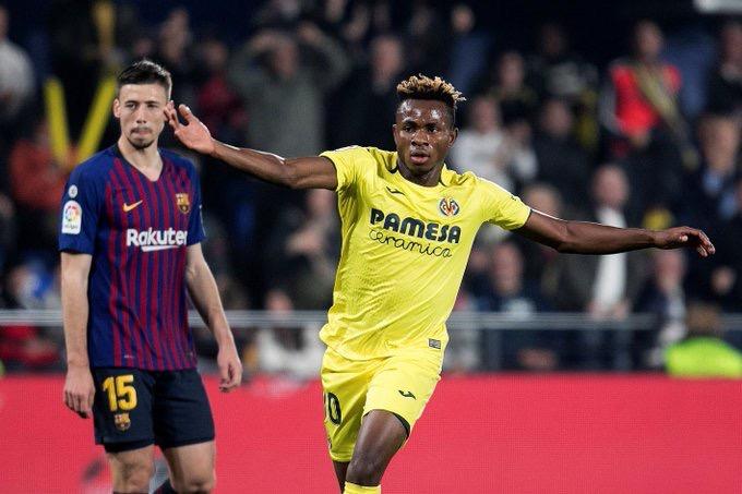 Chukwueze shines in Villarreal's 4-4 draw against Barcelona