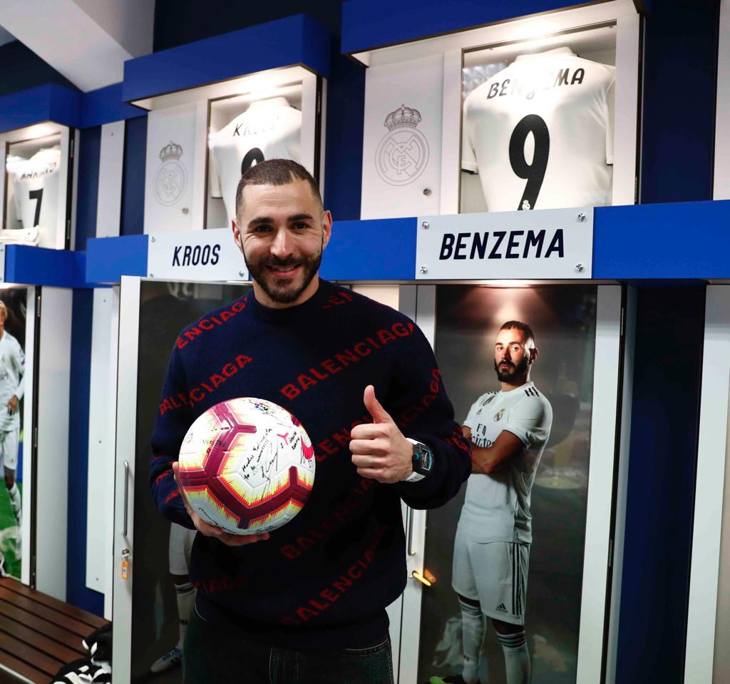 Karim Benzema gifts hat-trick ball to his daughter