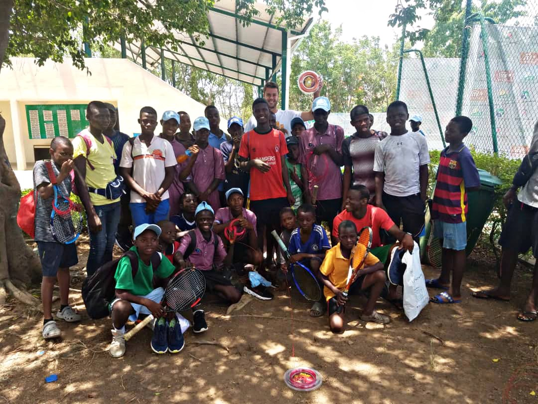 Tennis Player gifts Rackets to passionate Tennis kids in Abuja