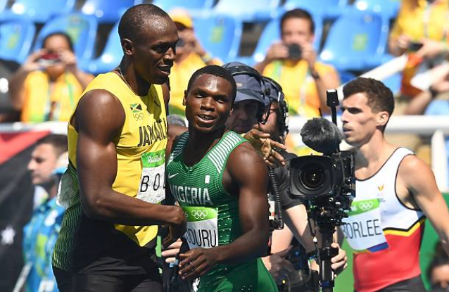 Nigerian beats Usain Bolts 200m Gold medal winning time at Rio 2016 Olympics