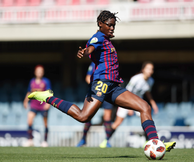 Oshoala targets success in France with Falcons after good season at Barcelona