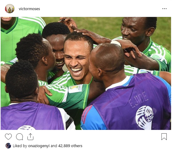 Victor Moses drops Word on Osaze Odemwingie's Retirement