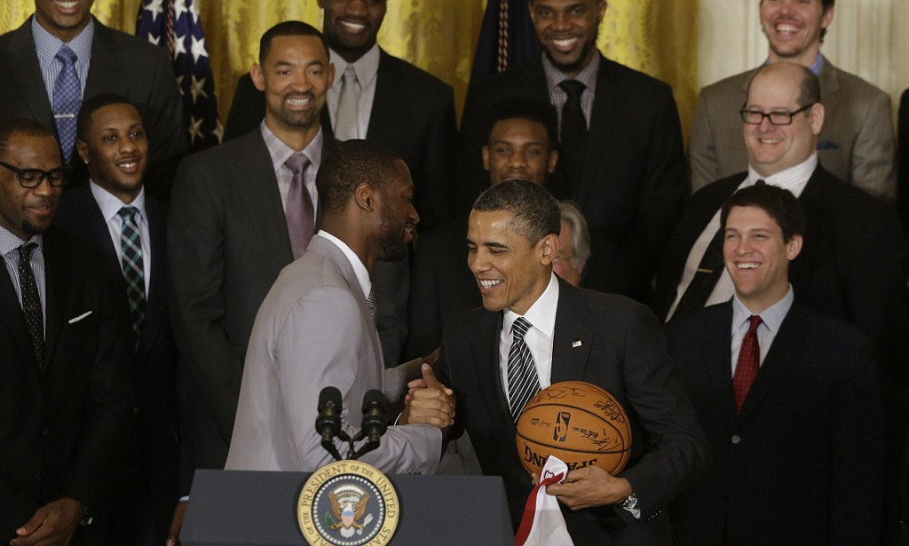 President Obama recalls time as a basketballer in farewell message to retired NBA star Dwayne Wade