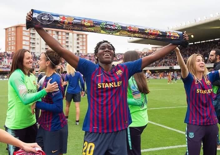 Oshoala helps Barcelona reach first Women's Champions League final