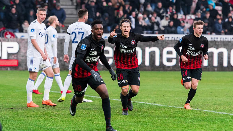 Frank Onyeka scores for Midtjylland in Denmark