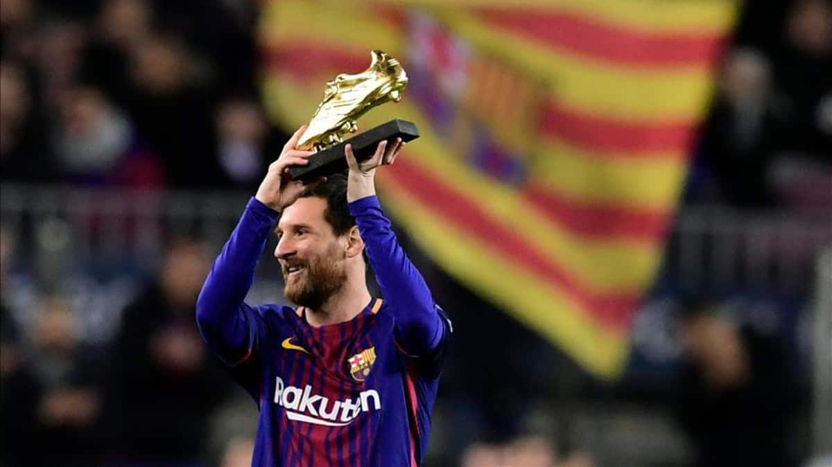 Messi don pass Ronaldo for Golden shoe as e kolobi number six
