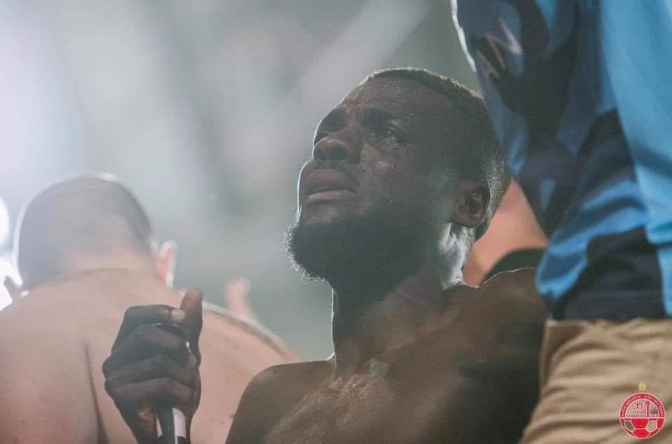 OGU wept after scoring own goal in his last game for Hapoel Be'er Sheva