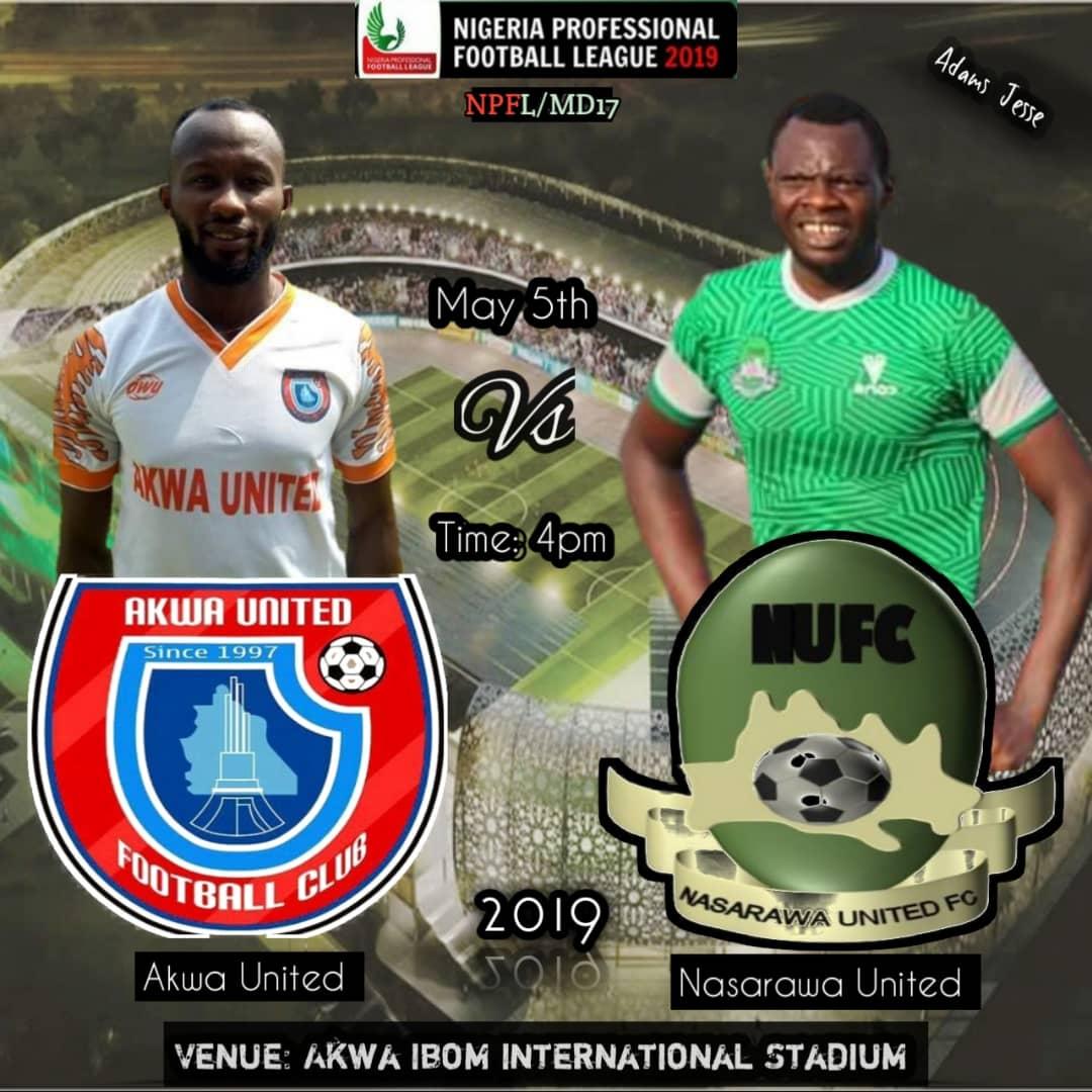 Nasarawa United dares Akwa United in Uyo