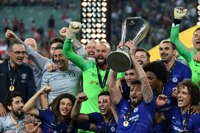 Hazard scores twice as Chelsea win Europa League final