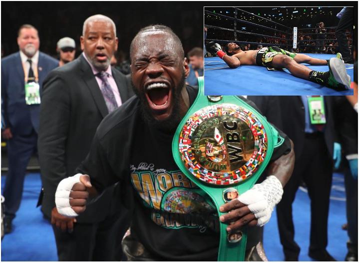 First Round TKO! Deontay Wilder Retains WBC Title with First Round KO