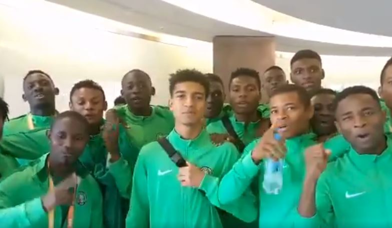 Flying Eagles Contingent sends love from Poland to Nigerian kids on Children's day