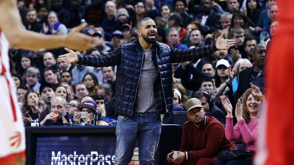 Toronto Raptor fan Rapper Drake uses the 'Drake curse' to jinx 76ers in NBA PLayoff