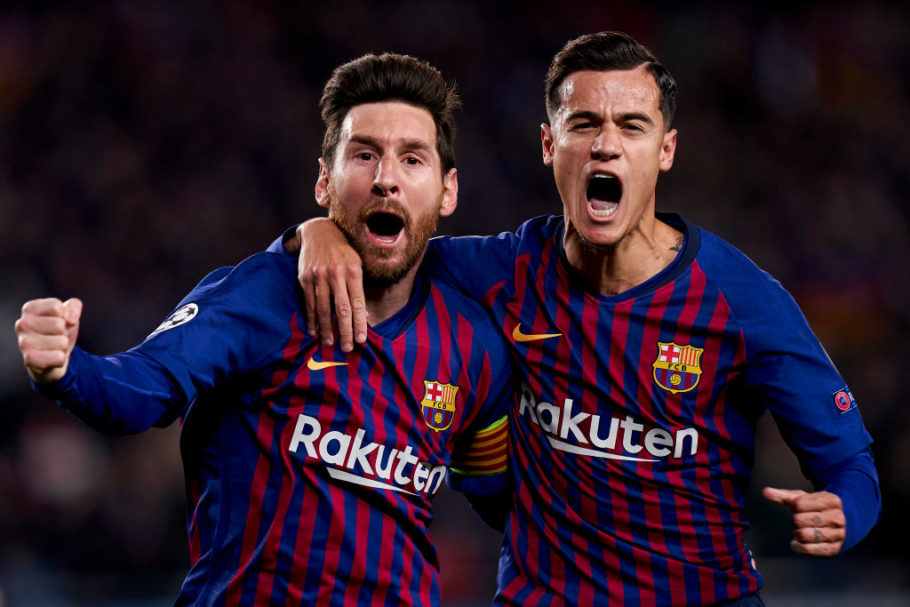 Lionel Messi frowns at fans treatment of Philippe Coutinho