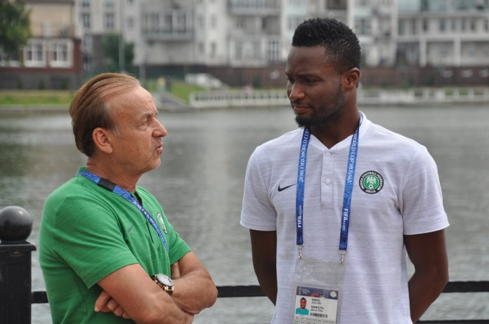 Rohr lauds Mikel Obi after national team retirement