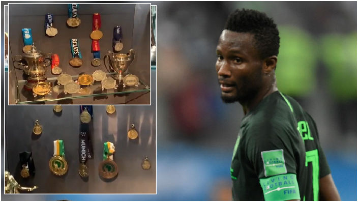 Most Successful Nigerian Player shares rare glimpse of Trophy Cabinet