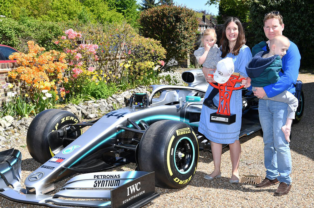 Lewis Hamilton Sends Formula 1 Car To Terminally Ill five-year-old boy