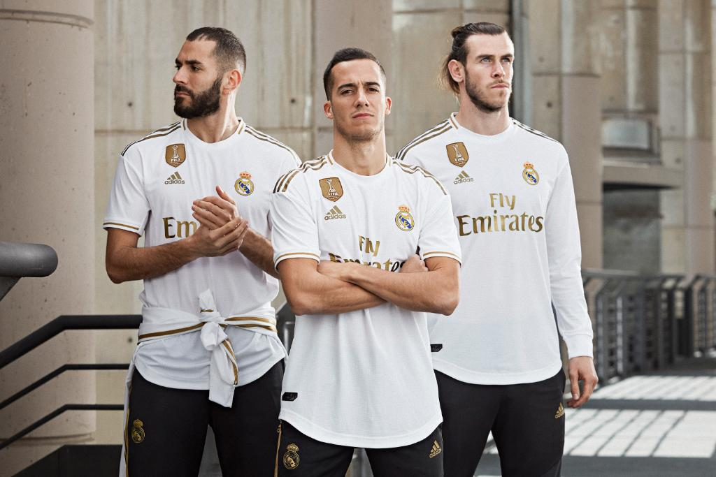IS REAL MADRID STILL HOME? Gareth Bale models Real Madrid new home kit