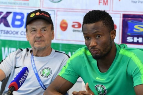 Mikel very committed to leading Eagles to success in Egypt, says Rohr