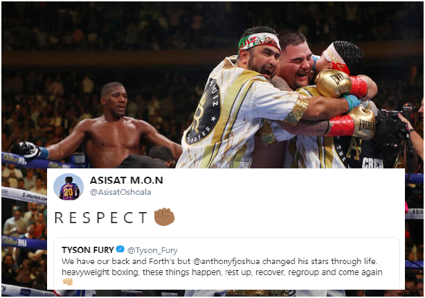 Fight was Staged! How Nigerian Sports Stars reacted to Anthony Joshua's Defeat
