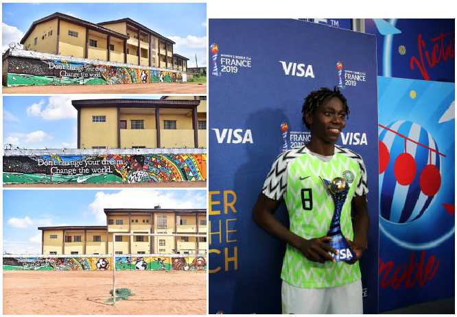 See Photos of Where Asisat Oshoala started Playing Football