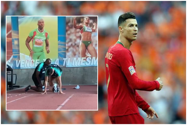 Former Nigerian Athletics Star helps knock Cristiano Ronaldo into Shape for new season