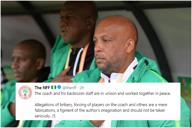 NFF Responds to Allegation of Tampering with Players List, Bribery in Flying Eagles