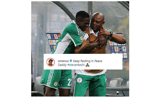 """Keep Resting in Peace Daddy""! Omeruo remembers Stephen Keshi"