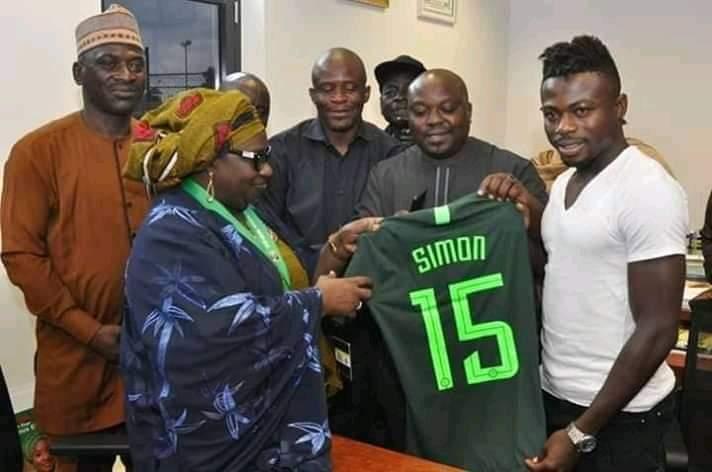 Kaduna Deputy Governor hosts Moses Simon after AFCON exploit