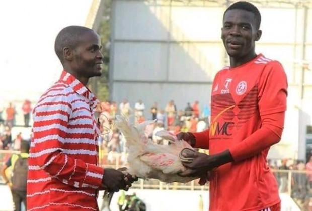Malawian League player Kajoke Receives Live Chicken After MOTM Performance
