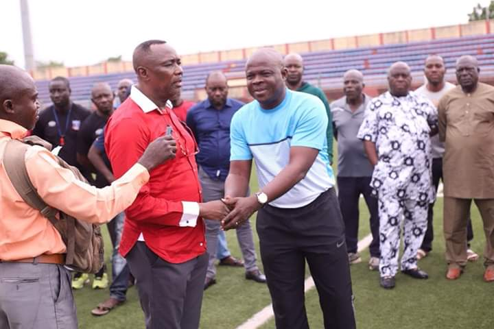 Lobi Stars introduces Gbenga Ogunbote to players and supporters