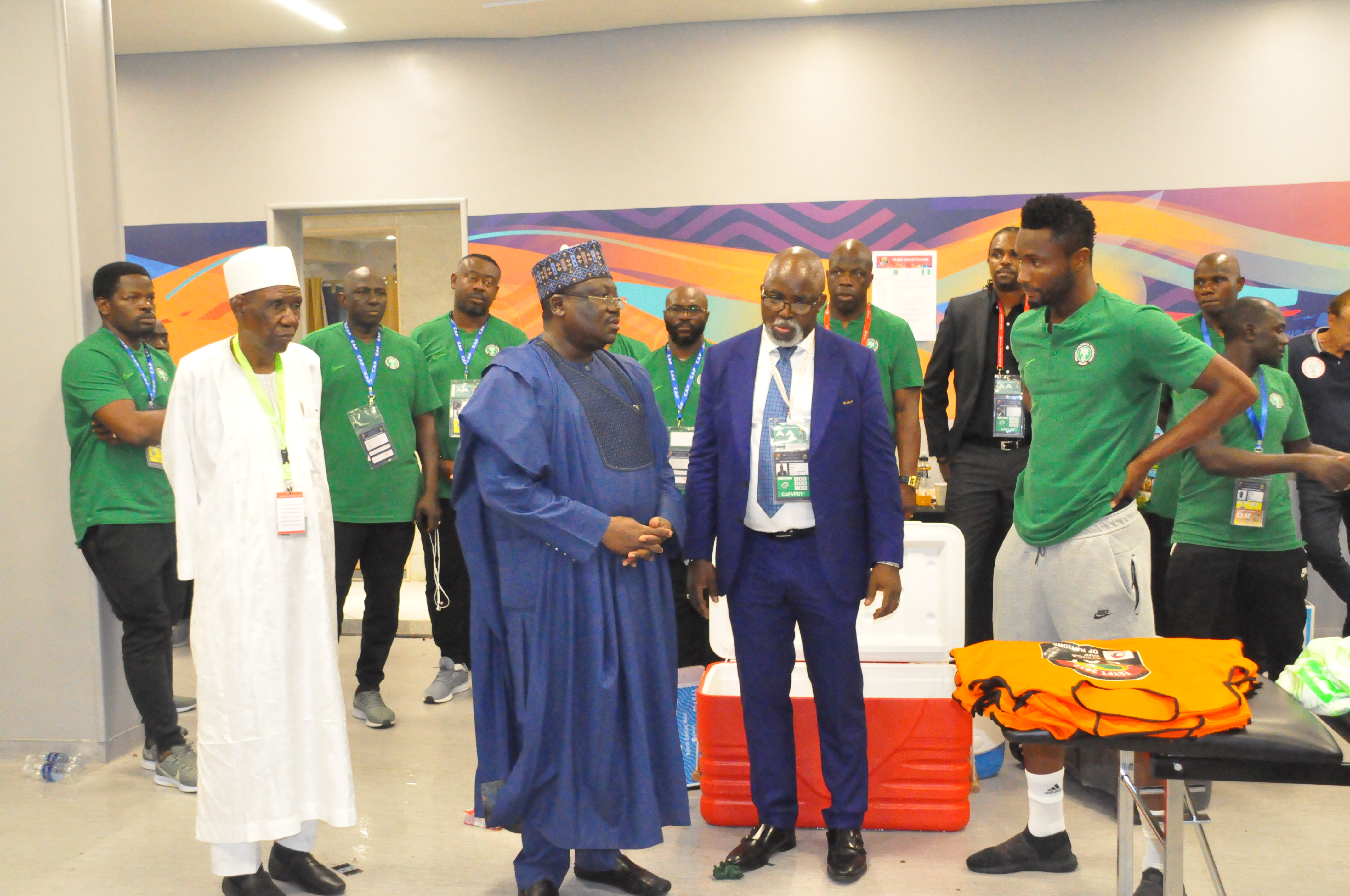 Lawan encourages Eagles to go all out for AFCON bronze medals