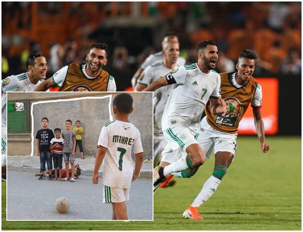 Onyekuru look away! Brutal Algeria kids recreate the Mahrez free-kick scene