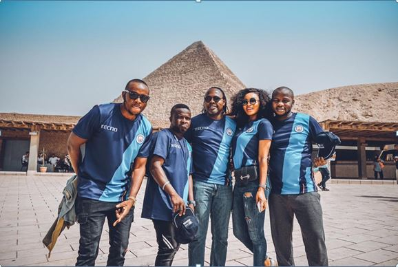 Three Lucky People Win A Trip To Egypt With Ikpeba In The Tecno Guess Champion Campaign