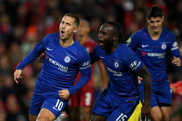 Victor Moses will reunite with Eden Hazard since they last played in October