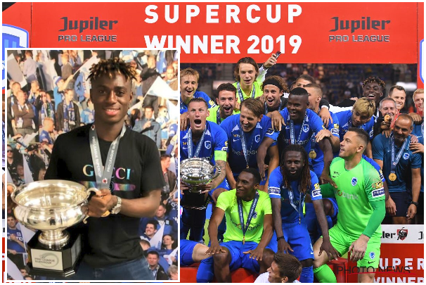 Steven Odey celebrates Super Cup win with Genk… even though he wasn't listed