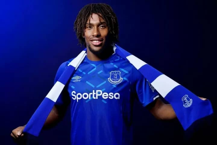 Iwobi Finally Make Appearance In Everton Jersey